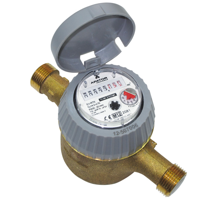 Dry Gas Meter : Volumetric dry water meter for cold dn